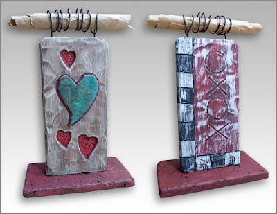 small wood sculpture for love gift