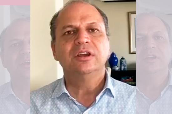 Deputado Ricardo Barros gravou vídeo nas redes sociais para comunicar sobre a alta médica