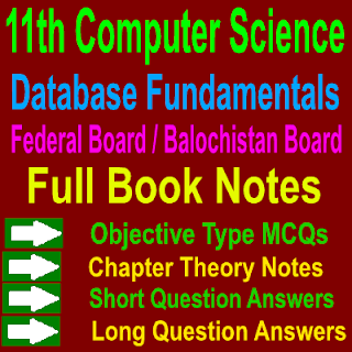 Helpful Computer Science 1st Year Database Fundamentals ICS Notes Download In PDF