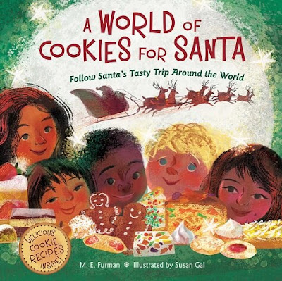 Learn about Christmas around the world, Christmas traditions, & different types of Christmas cookies with A World of Christmas Cookies by M.E. Furman.