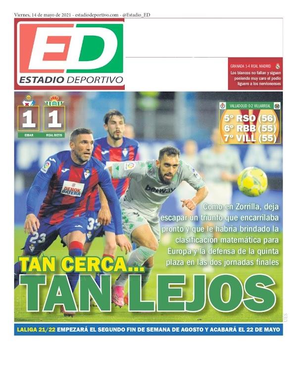 "Betis, Estadio Deportivo: ""Tan cerca... tan lejos"""