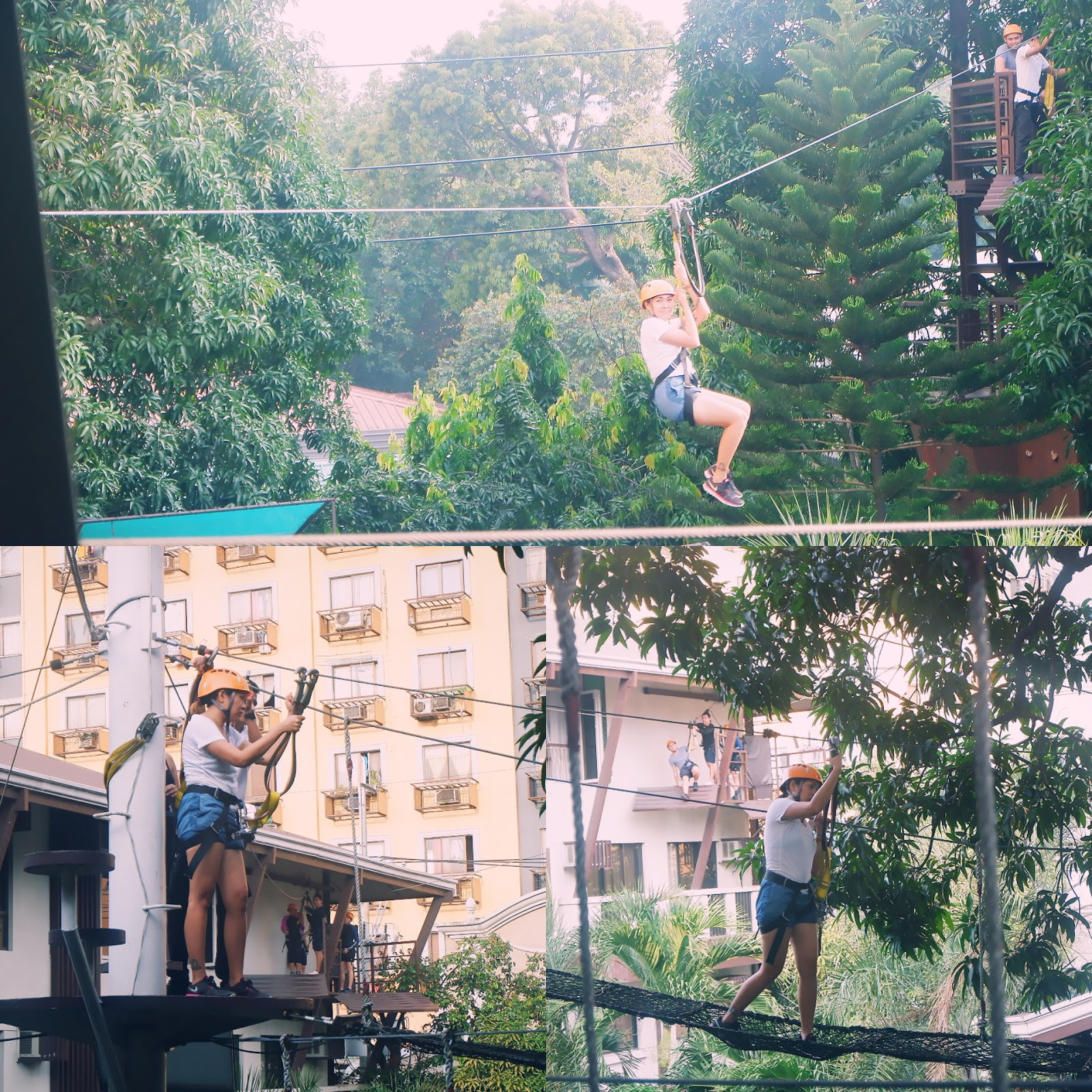 Activities like zip line in selah garden hotel