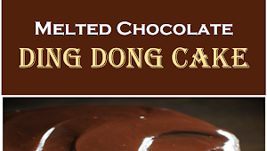 Melted Chocolate Ding Dong Cake (+VIDEO)  #Chocolatecake #Dingdongcake #Desserts