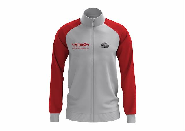Free Download  Premium Mockup Men's Training Jacket CorelDraw Vector