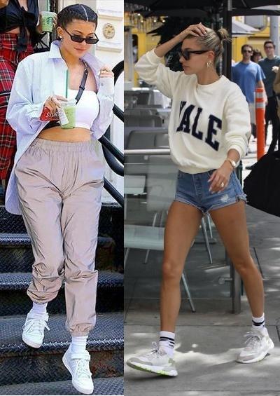 8 Regras de moda para quebrar já, Kylie Jenner, Hailey Baldwin Bieber