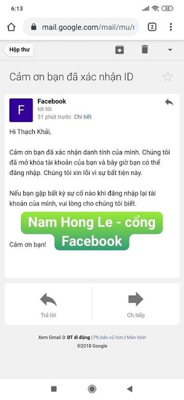 Dịch vụ Facebook Nam Hong Le - mở khóa tài khoản bị vô hiệu hóa- Zalo: 0983.923.431