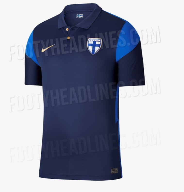 Finland Away kits for Euro 2020