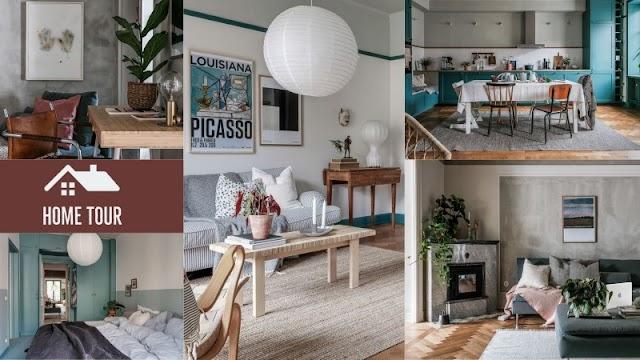 Ένα εντυπωσιακό διαμέρισμα διακοσμημένο με βάση το Πετρόλ