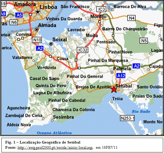 mapa de setubal completo Geo_Referências: 2.1.Localização mapa de setubal completo