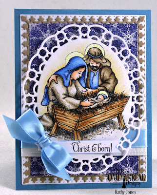 Our Daily Bread Designs Stamp Set: Our Savior's Birth, Our Daily Bread Designs Custom Die: Layered Lacey Ovals, Lavish Layers, Double Stitched Rectangles, Our Daily Bread Designs Paper Collection: Christmas Card 2016