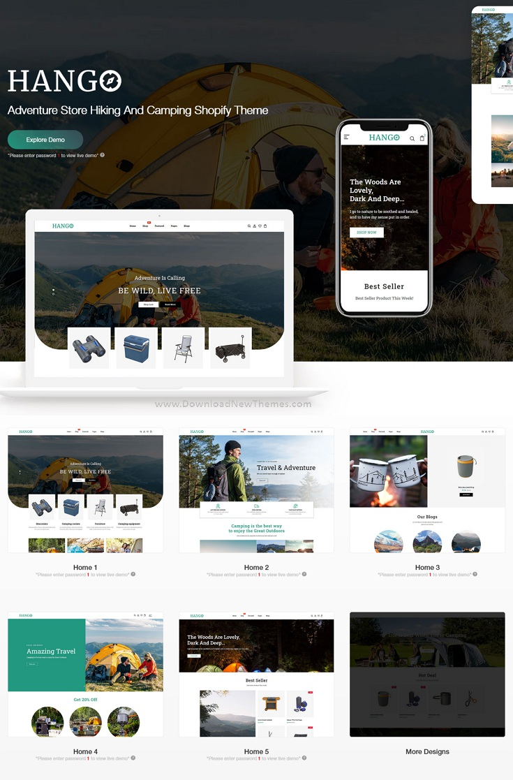 Adventure Store Hiking And Camping Shopify Theme