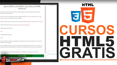 Como Aprender HTML5 - Cursos Gratis de HTML5