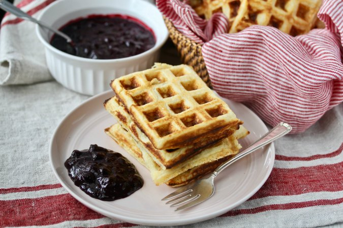 Cornmeal Yeasted Waffles