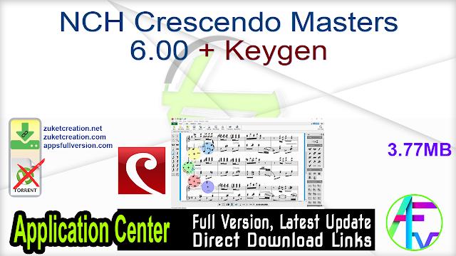 NCH Crescendo Masters 6.00 + Keygen
