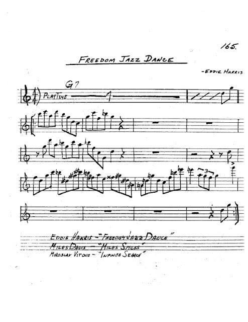Partitura Saxofón Eddie Harris