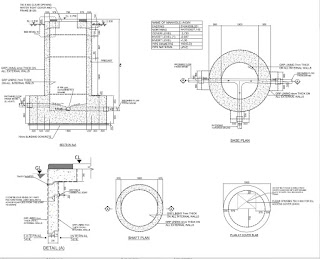 Typical concrete manhole in details autocad drawings