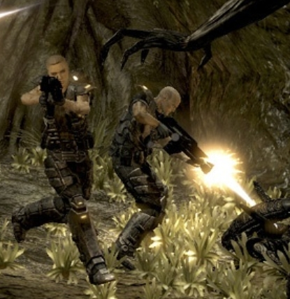 Alien vs. Predator video game - female marine