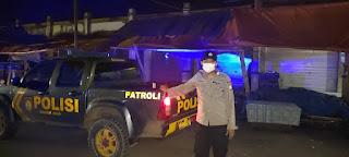 Ps Ka Spkt II Polsek Alla Polres Enrekang Melaksanakan Patroli Blue Light