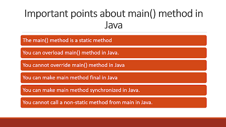 10 points about Main method in Java