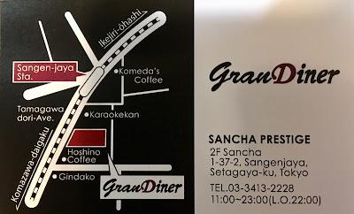 三軒茶屋のグランダイナーのアクセスマップ