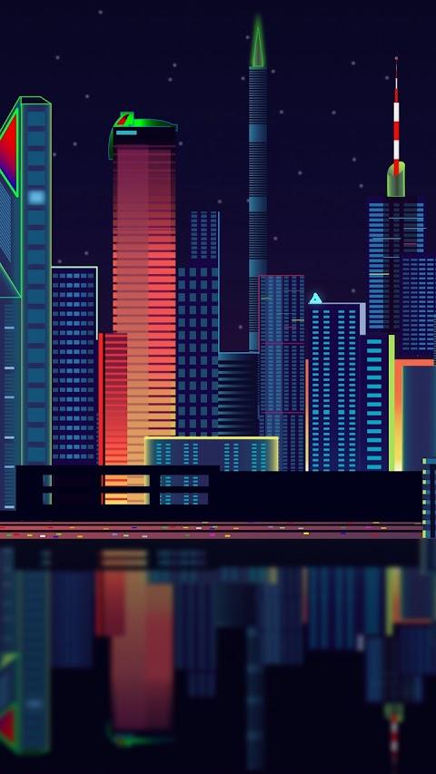 Toàn cảnh thành phố về đêm