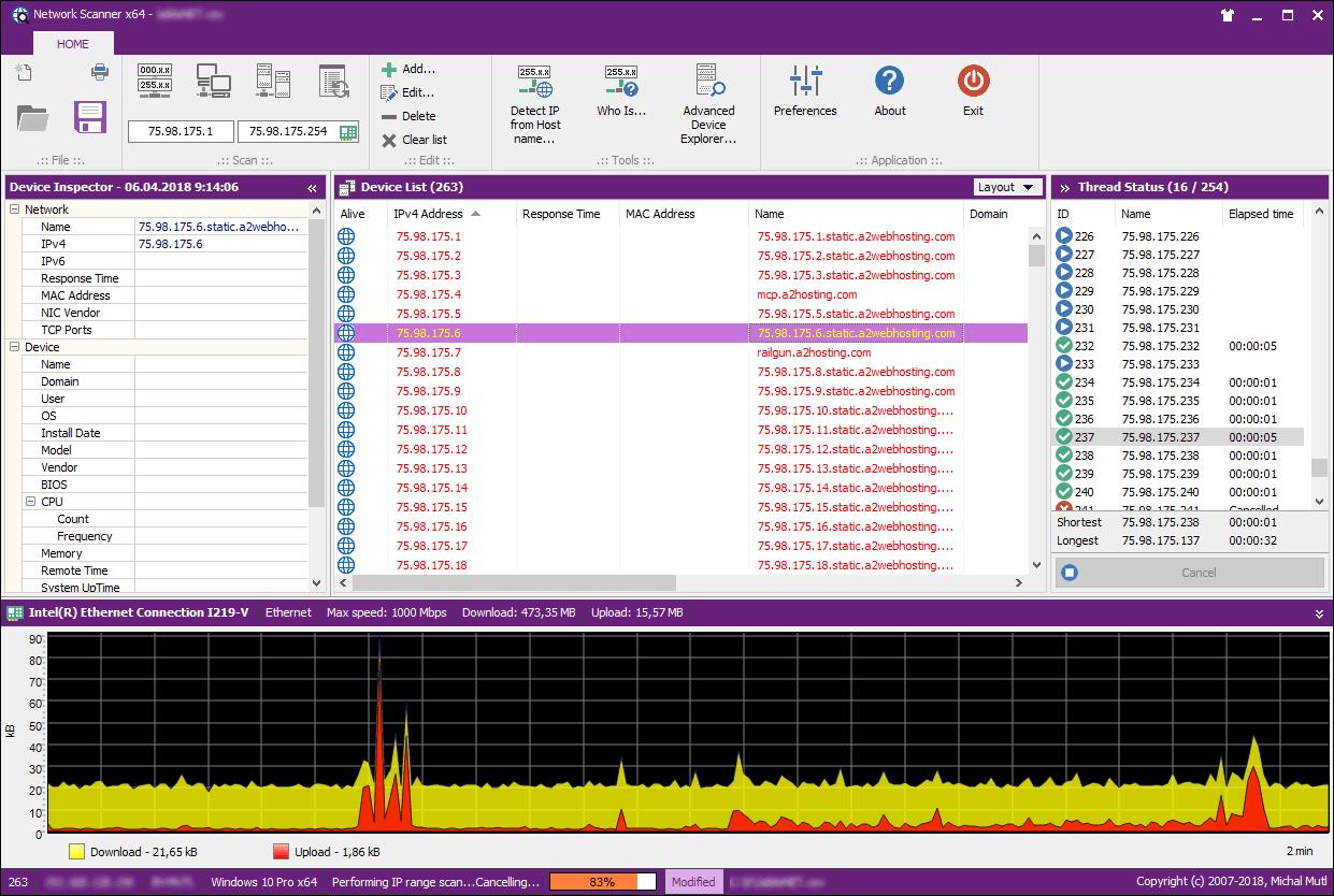 Network scanner windows