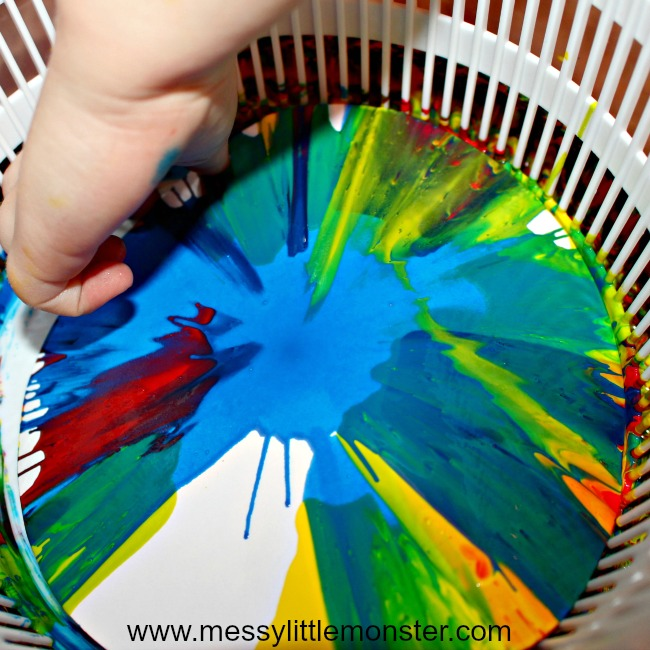 fun art techniques for kids - spin art
