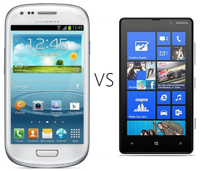Nokia Lumia 820 vs. The Samsung Galaxy S II