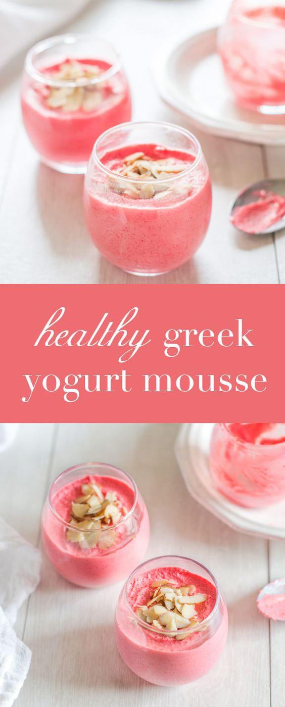 Healthy Greek Yogurt Mousse