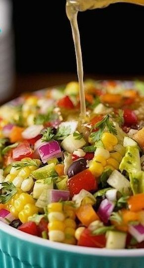 Mexican Chopped Salad #Mexican #Chopped #Salad #vegetarian #Bestsalad #Mexicanrecipe