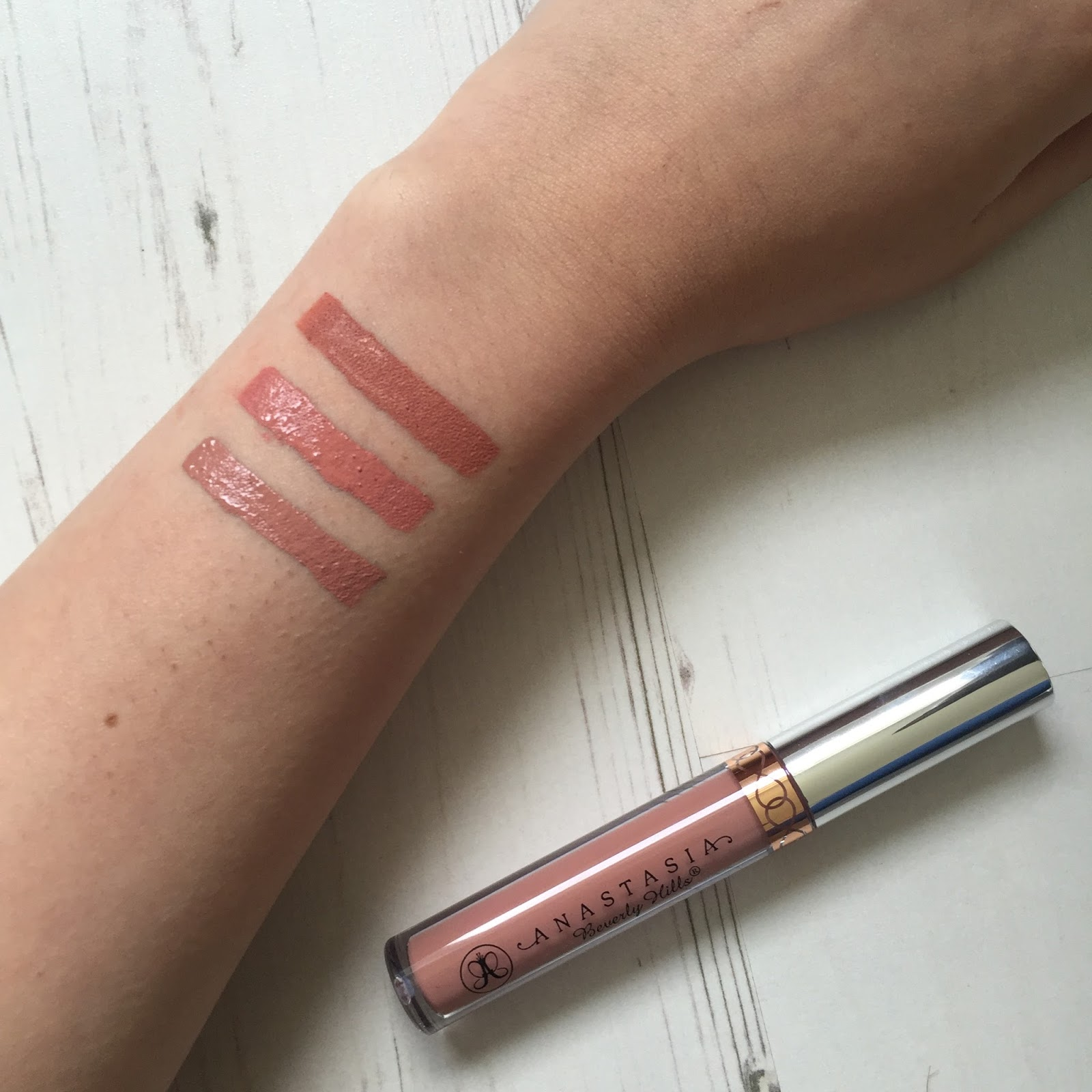 95fd1e340a This is my only Anastasia Beverley Hills liquid lipstick & it's in the  shade Pure Hollywood. I bought this for around £23 on Depop, you can't  actually get ...