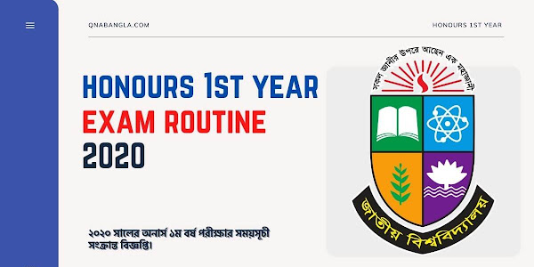 Honours 1st Year Exam Routine 2020