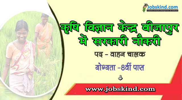 KVK Bijapur Recruitment 2020 Chhattisgarh Govt Job Advertisement Krishi Vigyan Kendra Bijapur Recruitment All Sarkari Naukri Information Hindi
