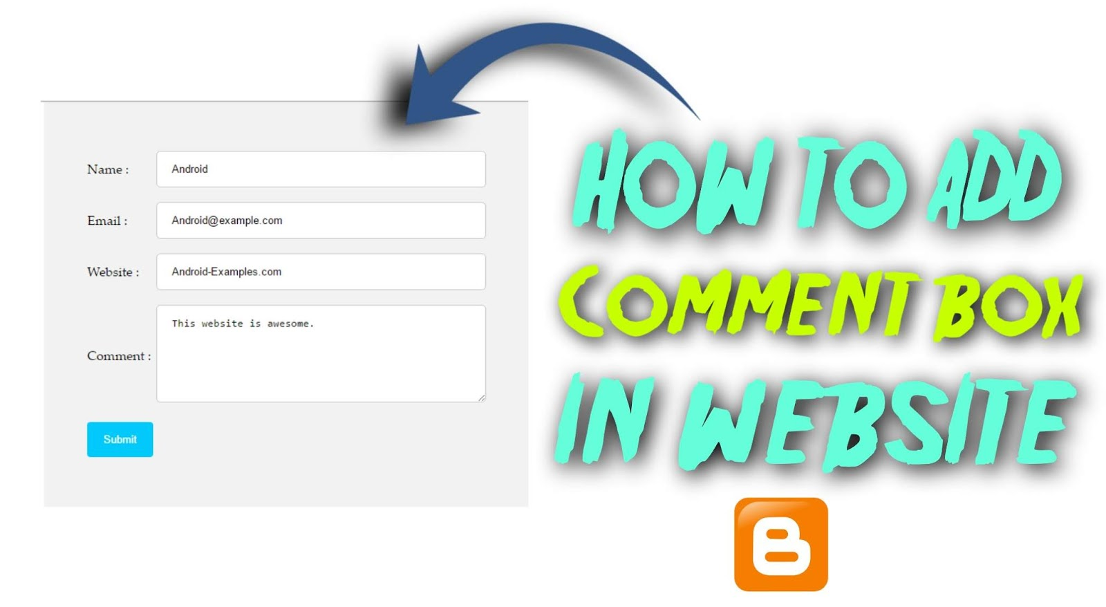 comment box kaise add karte hae