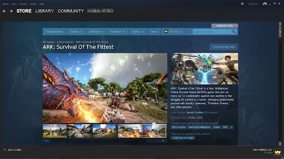 ARK Survival Of The Fittest In STEAM For FREE