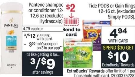 CVS Tide & Pantene Coupon Deal 9/5-9/11