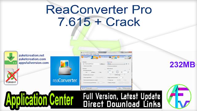 ReaConverter Pro 7.615 + Crack
