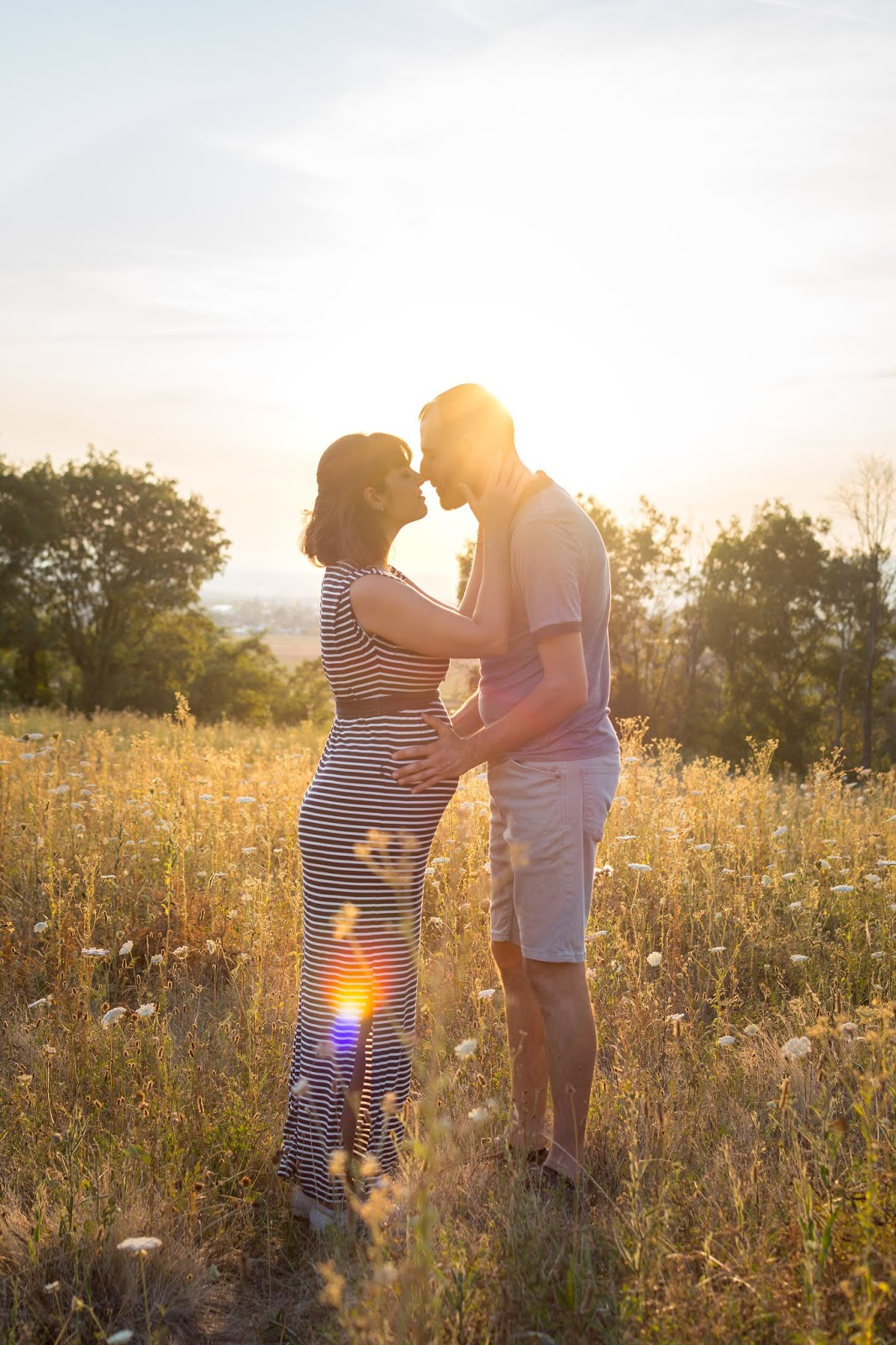 Shooting photos de couple proche de Lyon, dans la nature