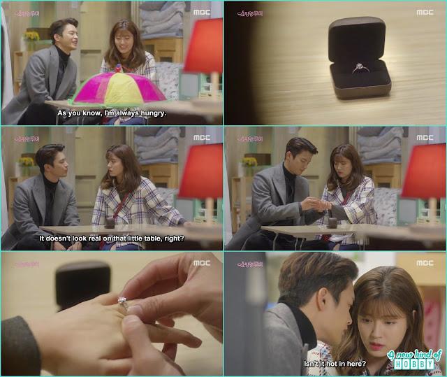 louis propose bok shil with a diamond ring - Shopping King Louis (Kisses) korean Drama