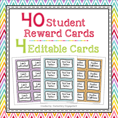 This post shares how my students earn these fun reward cards.