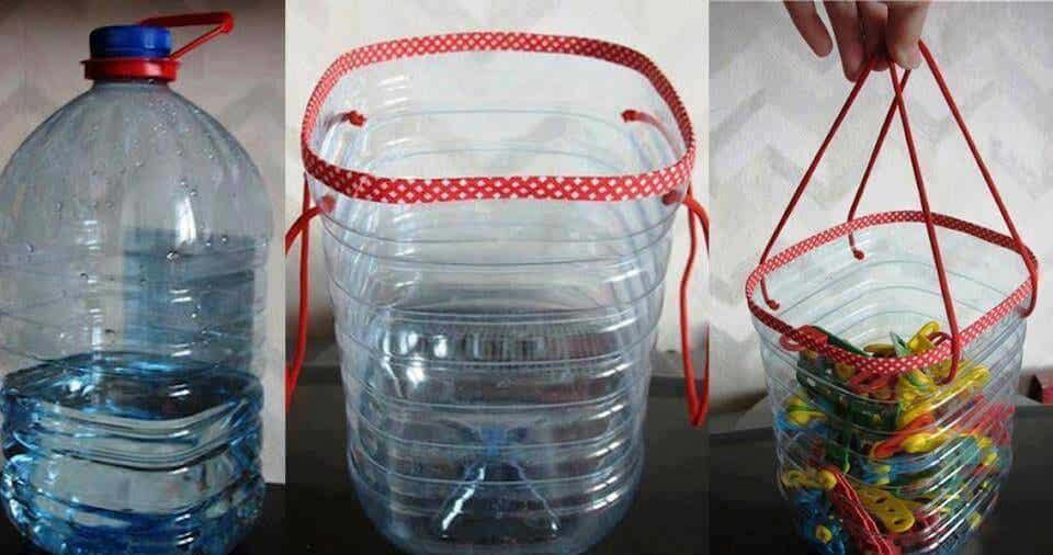 Cách tái chế chai nhựa làm giỏ treo