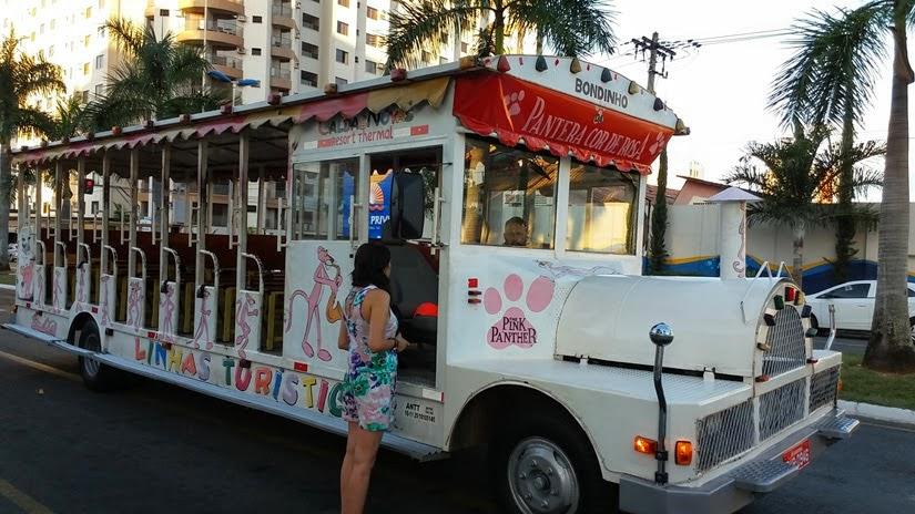 Goiás - Diário de bordo de Caldas Novas - Bondinho da Pantera Cor de Rosa