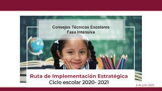 Ruta de implementación estratégica (Ciclo escolar 2020-2021)