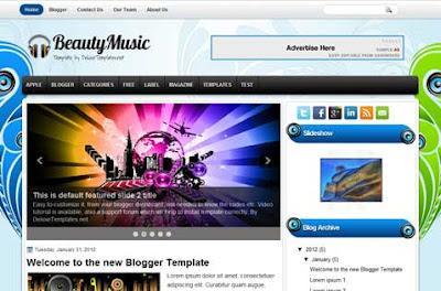 beauty music blogger template