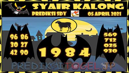 Prediksi Kalong Sydney Senin 05-Apr-2021