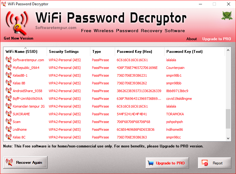 Wifi password decrypter