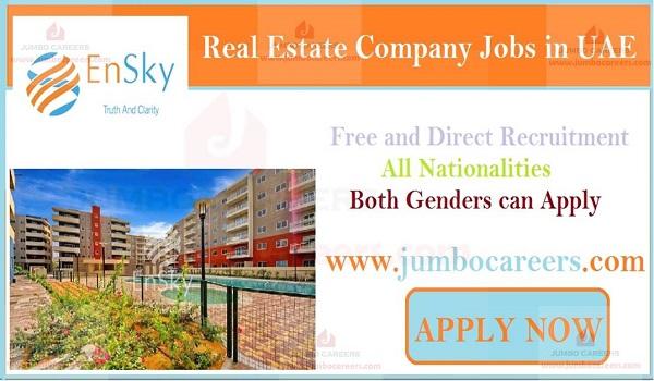 Urgent Abu Dhabi Jobs, Real estate job openings in UAE,