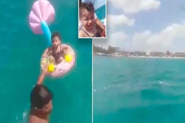 Bebê é resgatado no mar após ser 'esquecido' pelos pais