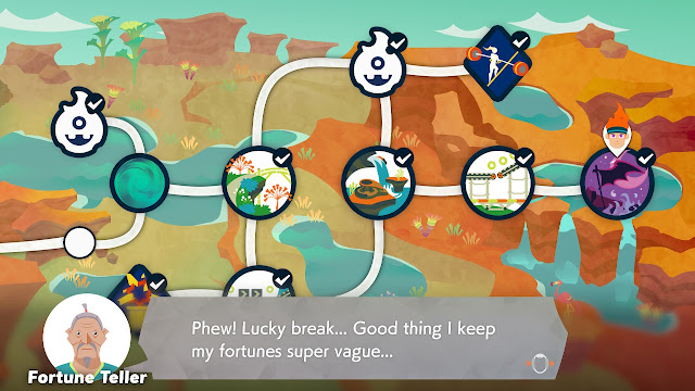 Ring Fit Adventure Fortune Teller super vague fortunes lucky break