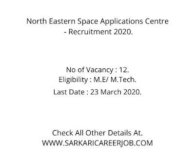 NESAC Vacancy 2020